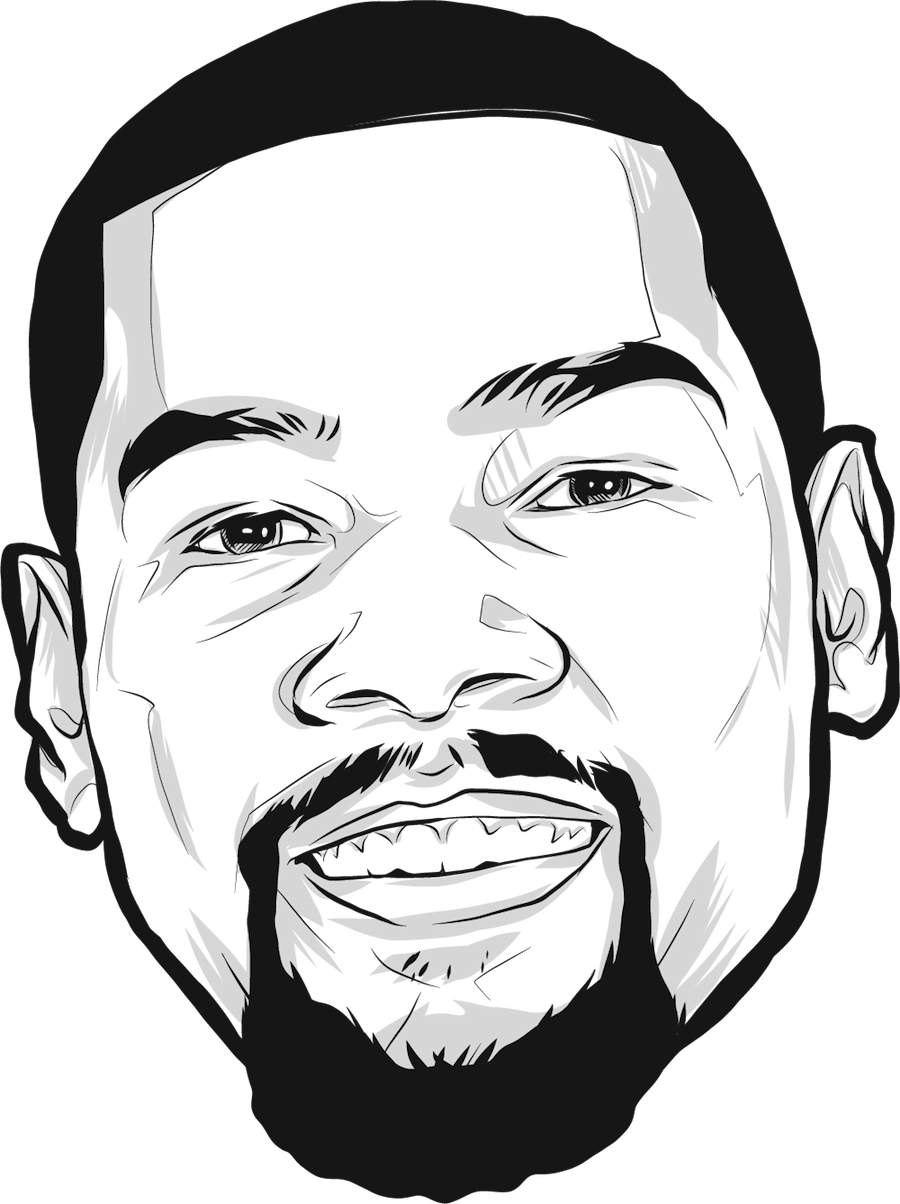 Portrait of Kevin Durant by Rob Zilla