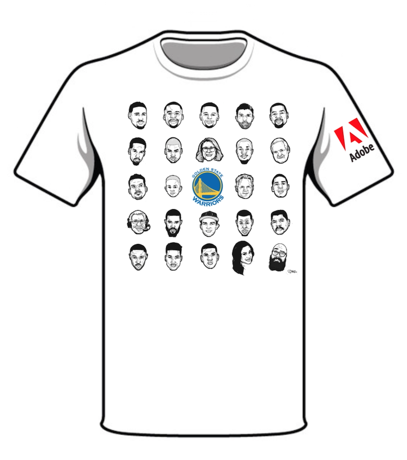 664b97d5ac6 Rob Zilla s Designs for the NBA s Golden State Warriors