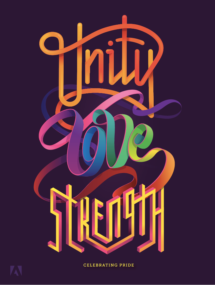 Unity love strength designing adobe s 2017 pride for Love in design