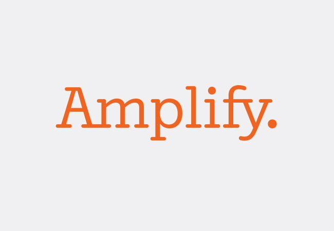 Graham Clifford Worked On This Logo For Amplify An Educational Product The Features A Custom Typeface And Was Intentionally Designed To Be Adaptable