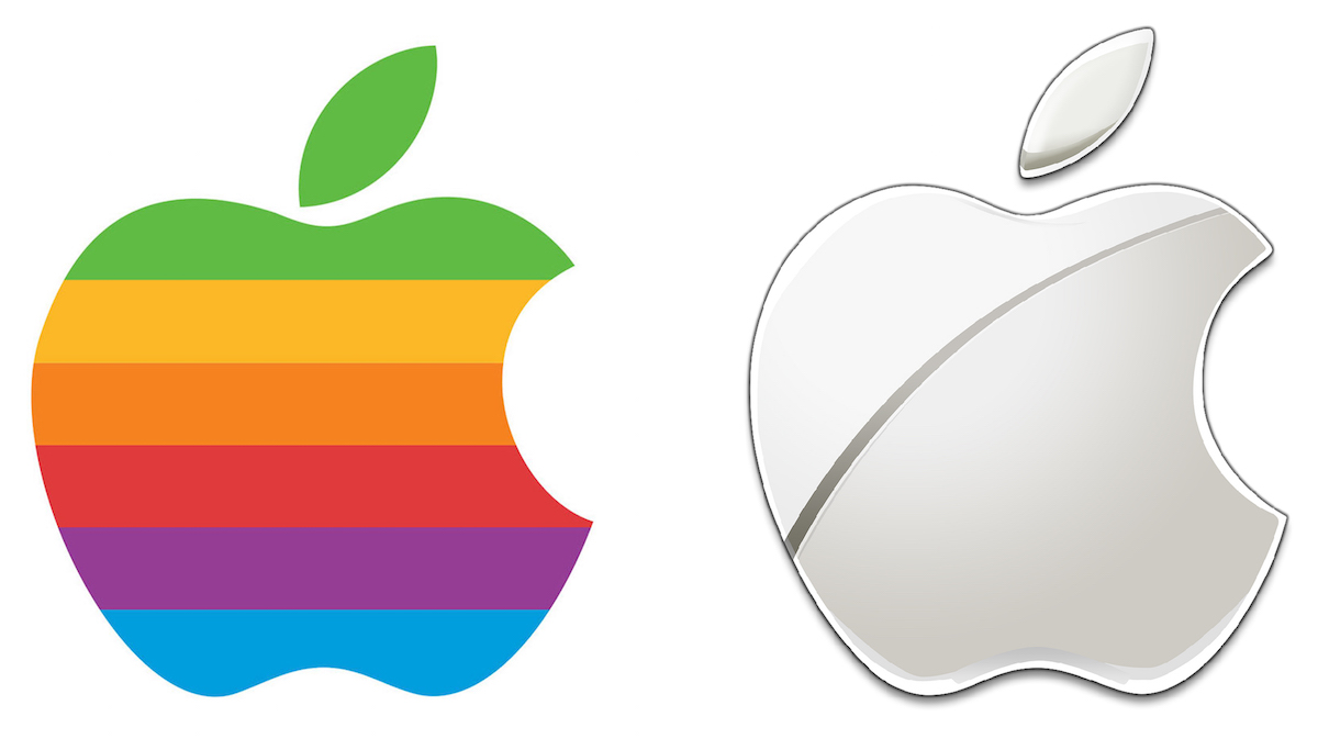 Whats a picture worth images type and logos create rob janoffs original bitten apple apple logo which replaced a more illustrative logo designed in 1976 has metamorphosed over the years biocorpaavc Gallery