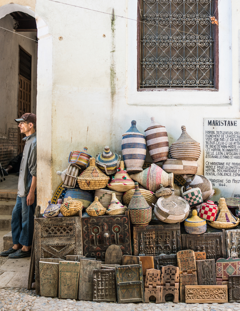 photo of baskets in Fez, taken by Joann Pai