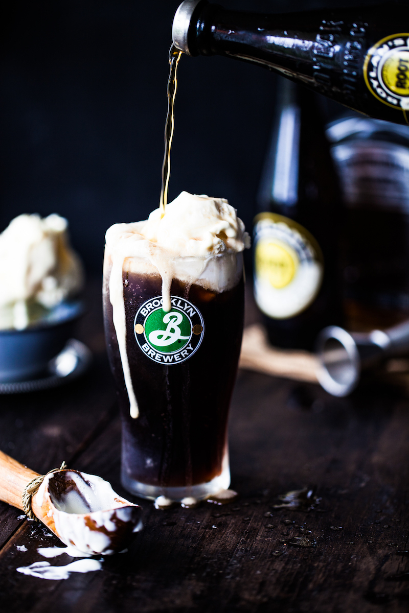 a photo of beer ice cream float by Joann Pai