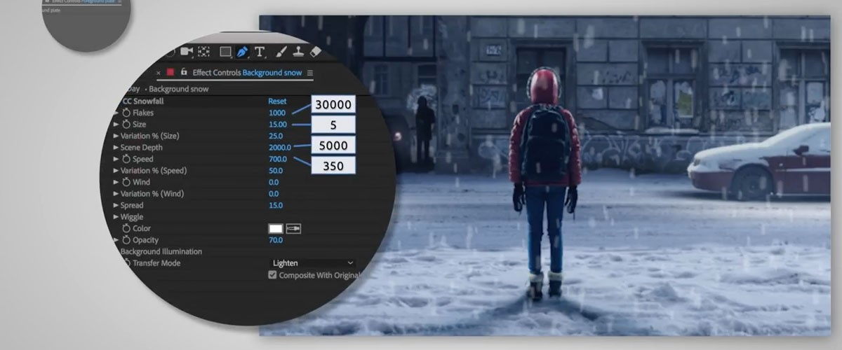 Add Snow to Videos with After Effects | Create