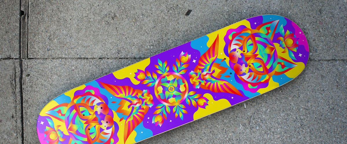 Lidia Lukianova created this design for a skateboard deck.