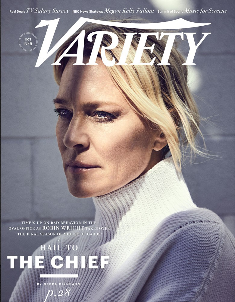 Variety magazine cover featuring Robin Wright, photograph by Jope Pugliese