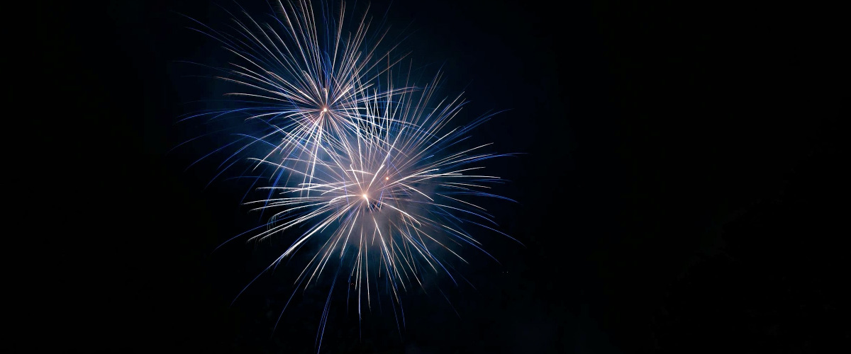 These fireworks were clouded by smoke until Terry White used the Dehaze feature on the photo.