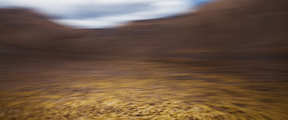 Julieanne Kost created this image using motion blur techniques when photographing the Icelandic countryside