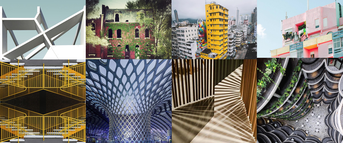 Pros and amateurs are sharing exceptional architectural photos on Instagram, like the ones in this montage.