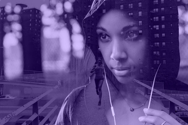 Give a double-exposure effect a fresh spin with the Pantone Color of the Year.