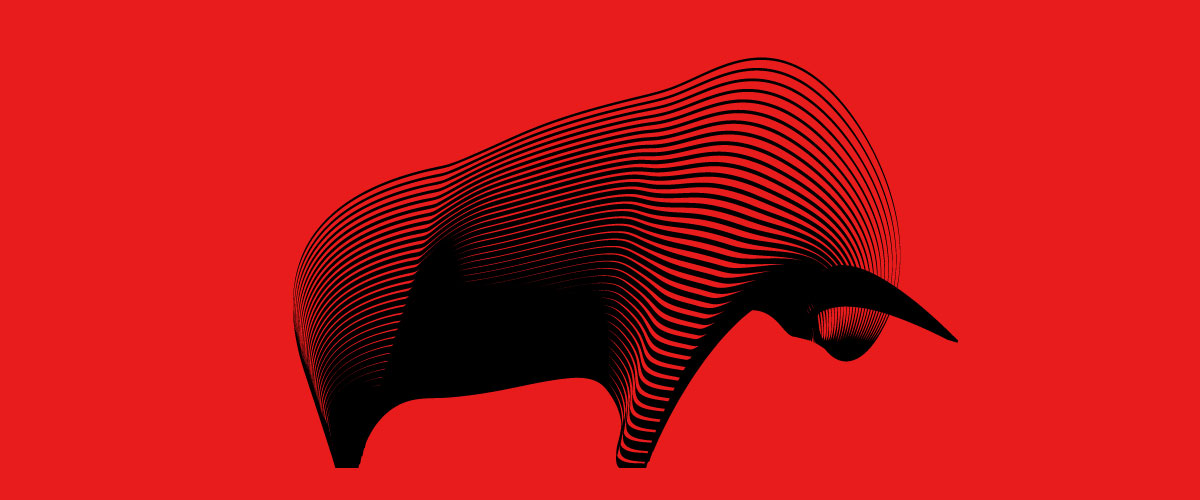 Andrea Minini created this vector drawing of a bull using a few lines, the Blend tool in Adobe Illustrator, and a lot of natural talent.