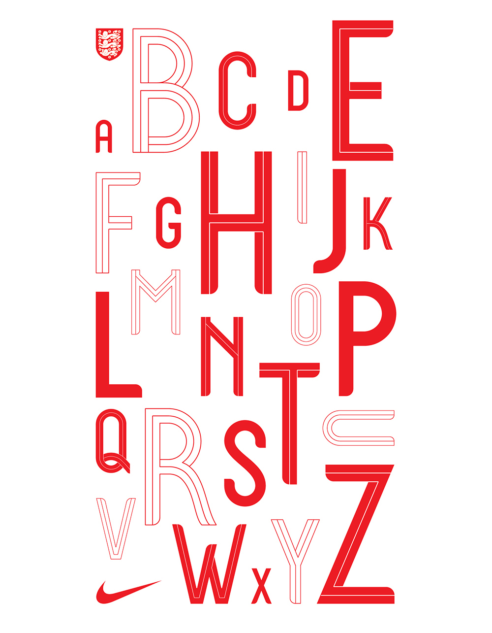 His Beautiful Bespoke Typeface For Englands 2018 World Cup Kit Pays Homage To English Iconography And Classic Typefaces
