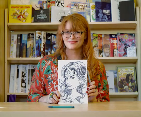 Watch our video to hear from Australian comics artist Nicola Scott on witches, Wonder Woman, and getting started in the comics industry.