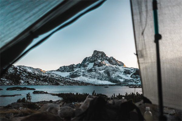 Kendall Plant shot this photo from her tent while thru-hiking the John Muir Trail.