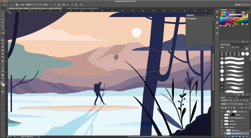 How to Draw a Peaceful Scene in Photoshop | Create