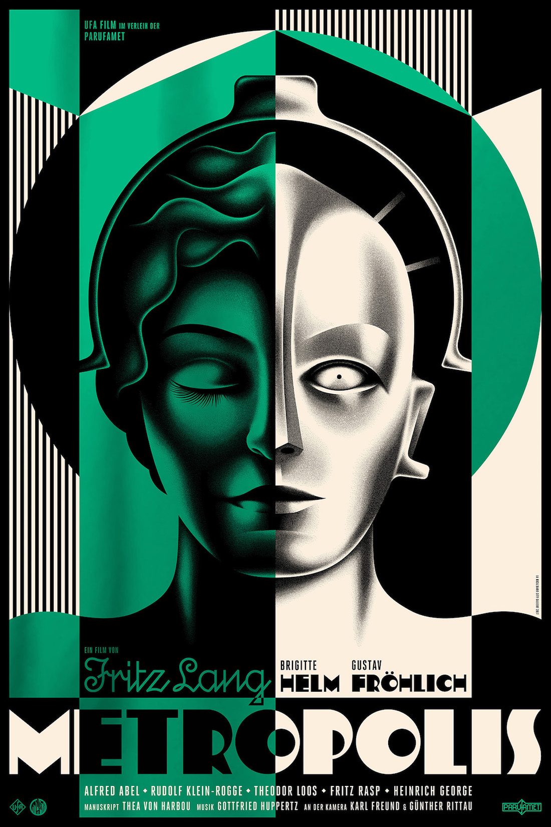 Metropolis poster by La Boca (green version)