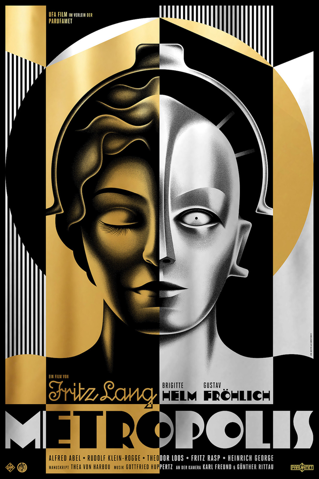 Metropolis poster by La Boca (gold version)