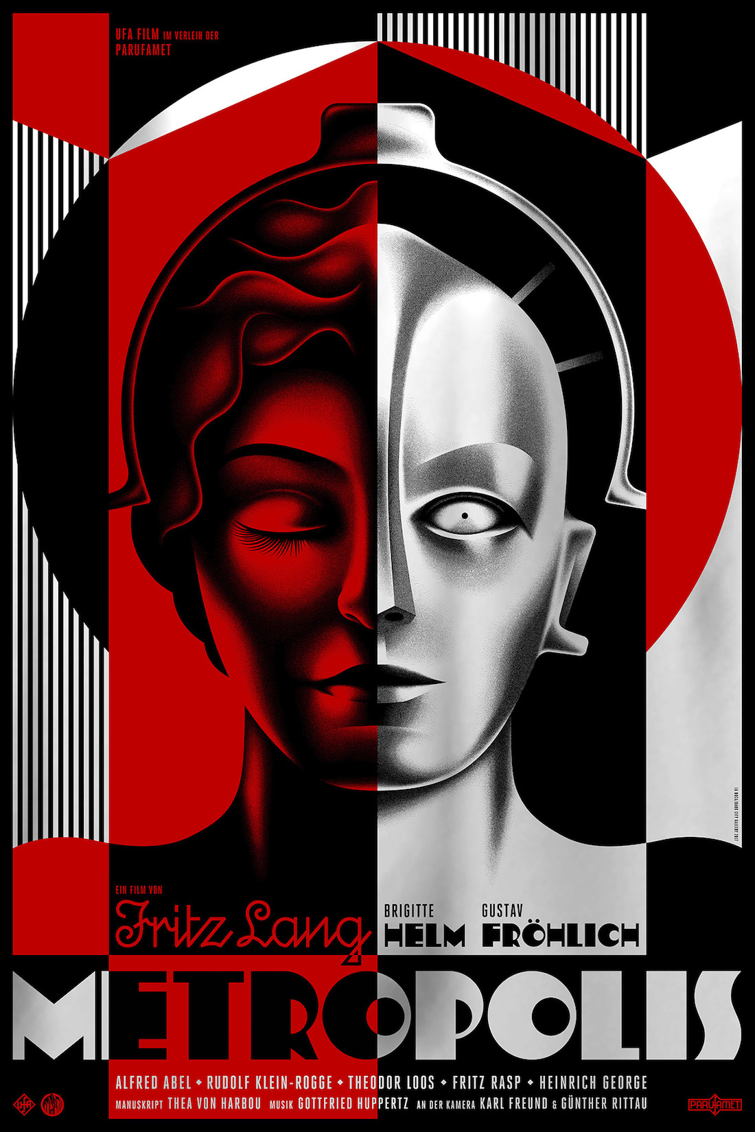 Metropolis poster by La Boca (red version)