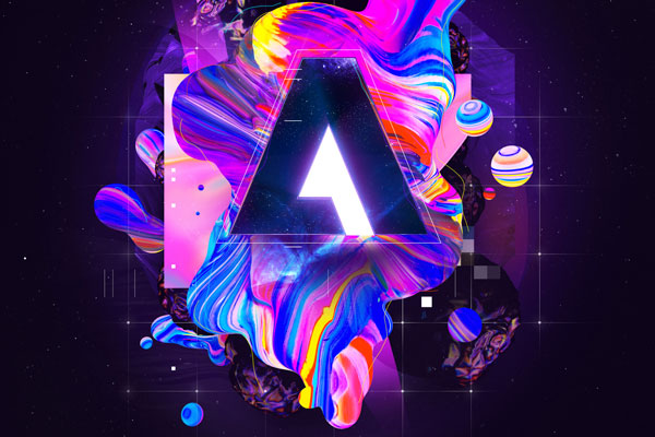 "Vasjen Katro created this stunning reincarnation of the Adobe ""A"" logo."