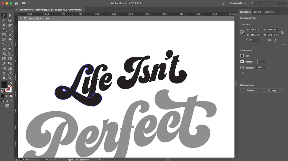 Use Type to Create Letter-Based Art in Adobe Illustrator | Create