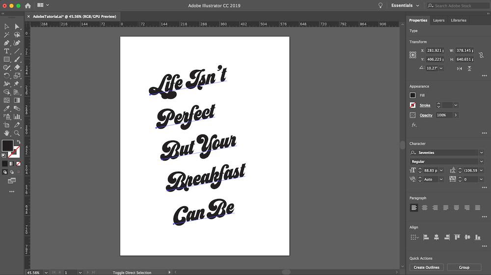 Use Type to Create Letter-Based Art in Adobe Illustrator