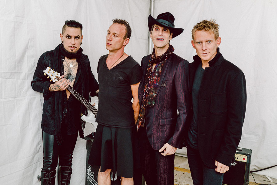 Chad Wadsworth photographed Jane's Addiction backstage before their 2015 set at FFF Fest in Austin.