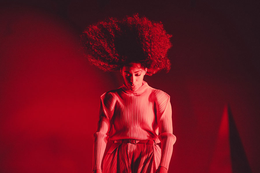 Chad Wadsworth captured this photo of Solange performing at the Day for Night festival in Houston, Texas