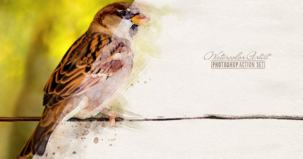 Free Photoshop Action Turns Photos into Watercolors