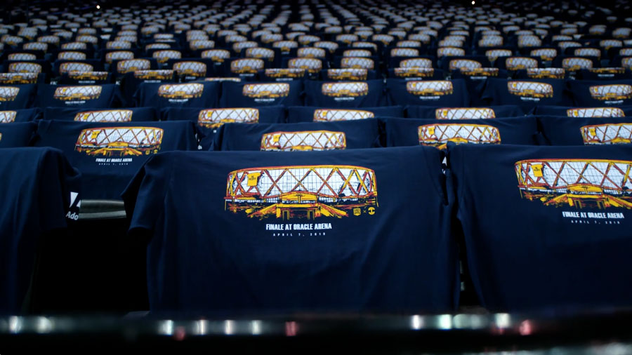 Watch the video about the creation of the Golden State Warriors 2019 Fan Night T-shirts and cheer cards by Oaklandish and Temi Coker.