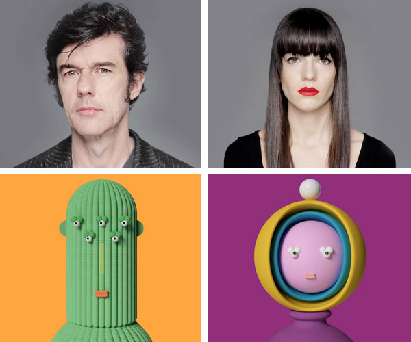 Pictures of Stefan Sagmeister, the Visionary Creative Type, the Dreamer Creative Type, and Jessica Walsh