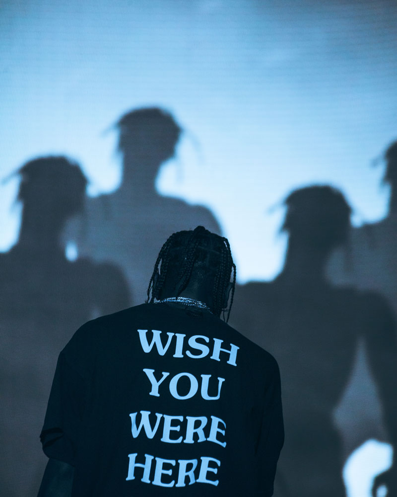 Travis Scott, Governors Ball Music Festival, 2018. Copyright Dana Pacifico.