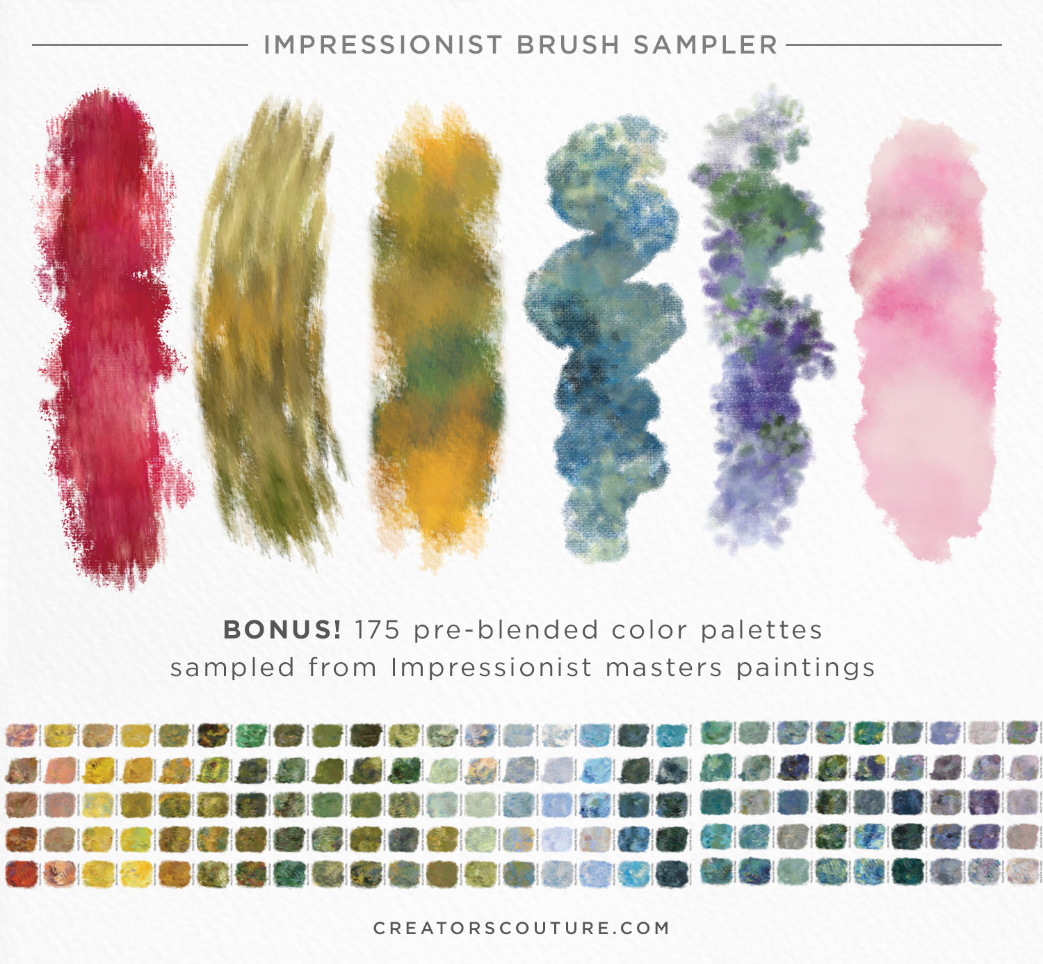 12 Free Color Blending Photoshop Brushes Create