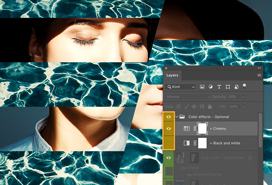 Free Photoshop Collage Template from create.adobe.com