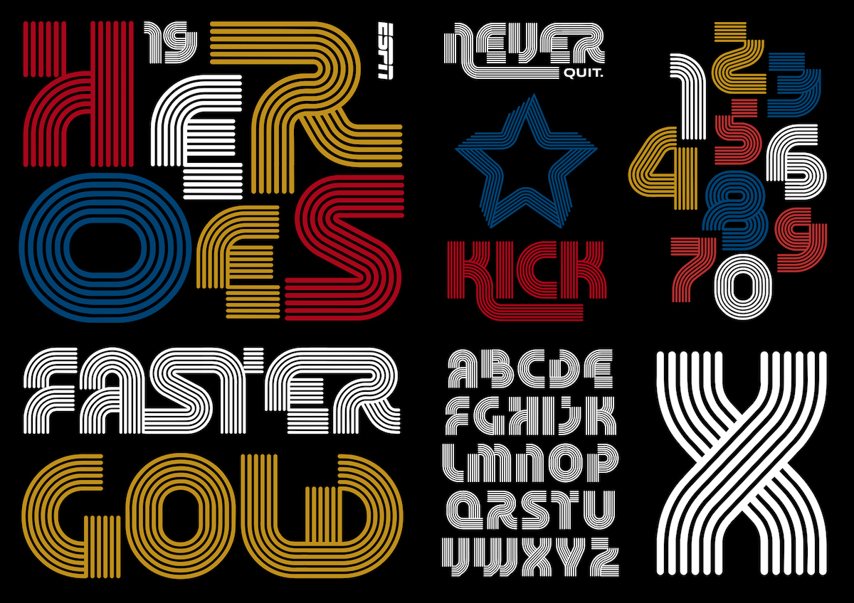 The ESPN Heroes typeface by Andrew Footit