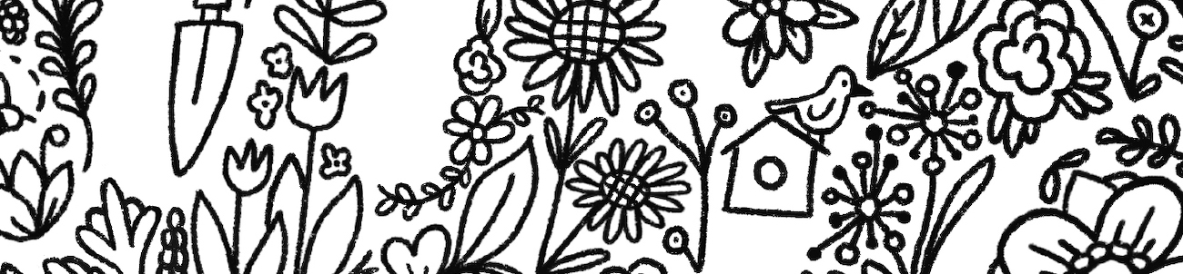 section of illustration drawn for Adobe Coloring Book, drawn by Cristina Vanko